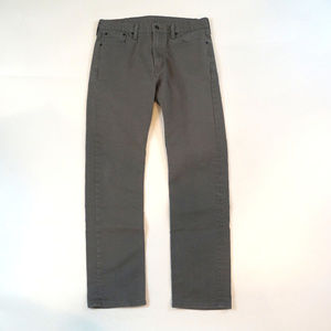 Levis 513 Slim Straight 32 X 32 Gray Wash Jeans